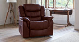 Bramwell electric riser recliner with massage and heat burgundy