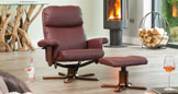 Colwyn Massage with Heat Swivel Burgundy