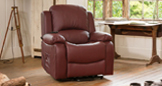 Emsworth electric riser recliner with massage and heat burgundy
