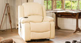 Emsworth electric riser recliner with massage and heat cream