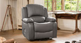 Emsworth electric riser recliner with massage and heat grey