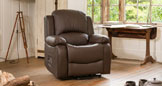 Emsworth reclining armchair brown