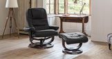 Exminster swivel recliner black