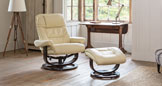 Exminster swivel recliner cream
