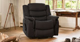 Hadleigh riser recliner with massage and heat dark grey