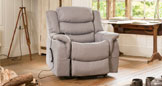 Hadleigh riser recliner with massage and heat light grey