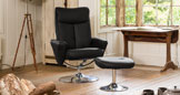 Henley Swivel Chair Black