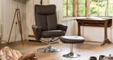 Henley Swivel Chair Brown