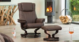 Huntingdon Massage With Heat Swivel Chair Brown