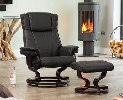 Huntingdon Massage and Heat Swivel Chair at The Recliner