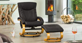 Melrose Massage with Heat Swivel Chair Black