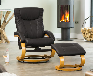Melrose Massage And Heat Swivel Chair At The Recliner