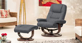 Mountview Massage & Heat Swivel Chair Charcoal