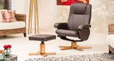 Rosslyn Swivel Chair Brown