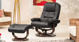 Somerton Massage With Heat Swivel Chair Black
