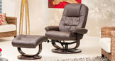 Somerton Massage With Heat Swivel Chair Brown