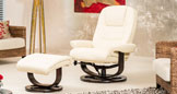 Somerton Massage With Heat Swivel Chair Cream