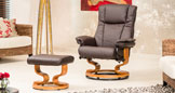 Wellington Massage With Heat Swivel Chair Brown